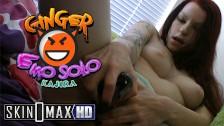 Ginger Emo Teen Kajira Full Scene Ripped Nylons Masturbation