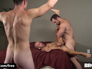 BROMO – Beard Anal fucking while slave watches