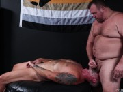 Bearback - Hearing Impaired Silver Daddy Face Fucked