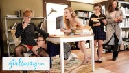 Blonde redhead penny rapidshare Hot threesome at the library with penny pax karla kush - girlsway