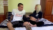Long cock autofallatio - Super popular tatted big cock boy lays it down on tiny petite blonde