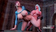 Fantasy fetish dress - 3d futanari fantasy aniamtion with big tits babes