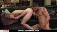 Gay kisah lelaki - Hot stepdad uses sex toy on stepson