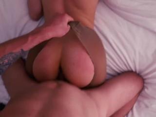 He Fucks Me Through Pantyhose Hole – POV