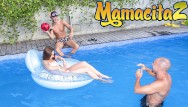 Snake pussy girl Chicas loca - young russian stacy snake pool party threesome - mamacitaz