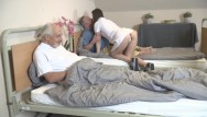 Xfeed threesome Nurse feeds two lonely old citizens