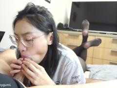June Liu ?? / Spicygum - Ultra-cute Japanese Girl Or Video Games? (glasses / Bj)