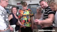 Free family orgy tubes Son learns how to fuck from caring family