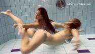 Teenie sex show Swimming pool teenies having lesbian fun
