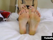 Sweet Petite Bailey Paige Takes Off Crazy Converse & Foot Fucks A Hard Cock