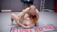 Womens naked wrestling league Lauren phillips mixed naked wrestling vs indiana bones taking cock roughly
