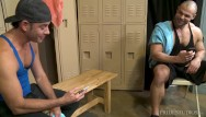 Michigan gay chat room Menover30 - two hunks match on grindr in locker room