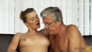 Man sex super Daddy4k. beautiful sexy lady has hot sex with old man on his giant villa