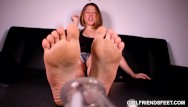 Sores on vulva - Soles and chastity femdom pov