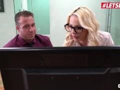 Scamangels - Secretaries Bella Rose And Athena Faris Office Fuck Letsdoeit