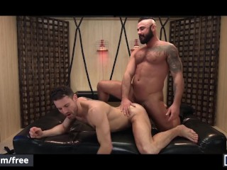 Mencom – Straight boy jerking off while watching two muscular men fucking