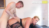 Young german amateur - Reife swinger - big tits milf cheats on her husband with younger guy