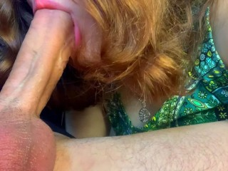 I like to feel Pulsating Cock in My Mouth. Suck Big Dick on Camera!