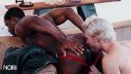 Gay cock docking - Noirmale - white boy gets bounded by black jock