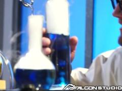 Nerdy Scientist Morphs Himself Into Hot Stud & Fucks 2 Muscle Hunks