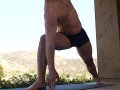 NextDoorRaw - David Skylar Helps Friend With Yoga Positions