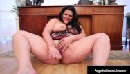 Huge cunt fucking Hot thick bbw latina angelina castro fucks her creamy curvy cuban cunt