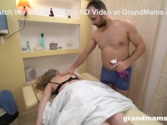 Masseur Takes Care of Granny's Weird Pussy