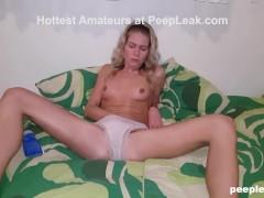 Hot Amateur Rubbing Until Total Satisfaction