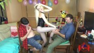 Psycology watch wife perform oral sex Birthday party-blonde girl performing a striptease in front of 2 lucky guys
