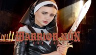 Nun caught fucking Petite teen warrior nun is begging for your dick