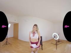 Petite Blonde Italian Babe Rebecca Volpetti Having New Vr Casting
