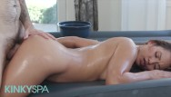 Canadian cock massage Kinky spa - lana violet milks cock durring massage