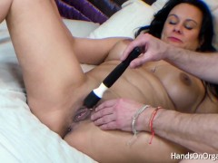 Curvy British Milf Gets Hands On Masturbation And Orgasm Treatment