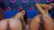 Dildo will Naughty amateur babes both riding the same dildo doggystyle