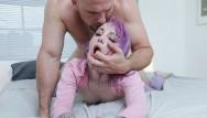 Samll dick humiliation Petite pierced teen gets stuffed with huge cock