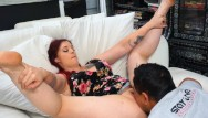 A picture of cunnilingus Hairy bbw ginger is horny for cunnilingus