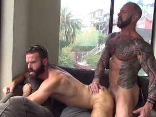 Hot Muscle Daddy Feeds Hungry Bottom With His Big Cock