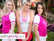 Lily Rader's Softball Training Turns Into Hot Teens Threesome - WebYoung