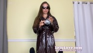 Amater milf She keeps raincoat trench coat on sucking fucking creampie - lelu love