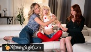 Old and young lesbians lick Kenzie reeves step-mothers team up to fuck her - mommysgirl
