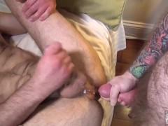 Tattoed Daddy Rims and Fucks Hunk Bottom
