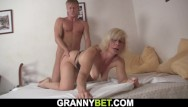 Enemies granny busty Busty mature blonde takes it from behind
