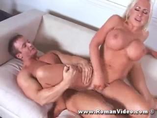 Savannah Gold fucks bodybuilder an rides him as ponyboy gets spanked by him