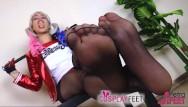 Diamondbacks baseball redhead Petra as harley quinn shows off her hot pantyhose