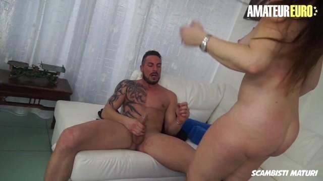 Scambisti Maturi - Big Boobs Mature Slut Drives Her Young Man Crazy