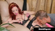 Milf husband threeway Horny hot housewife shanda fay gets her mature muff stuffed by husband
