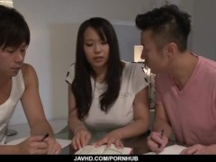 Saki Sudou Deals One Cock In The Caboose And Another In Her