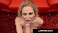 Sucking her boob milk What holy milf blowjobs julia ann milks, sucks busts a blue nut
