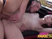 Female Fake Taxi Skater Punk Plays With Cute Hot Babe To Orgasm On Backseat