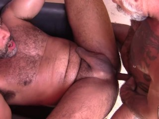Hot Uncut Bottom Gets His Hole Wrecked By Tattooed Daddy